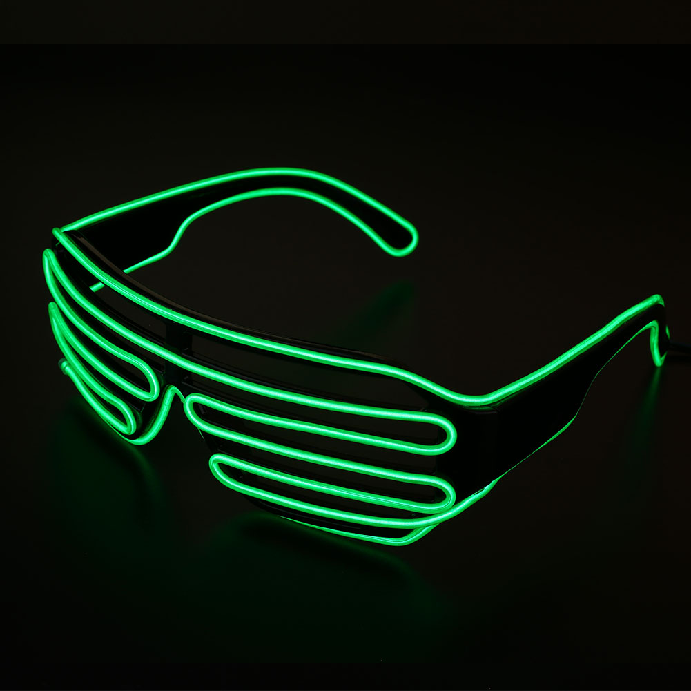 Neon El Wire LED Light Up Shutter Glasses Amazing Glowing Rave Party ...