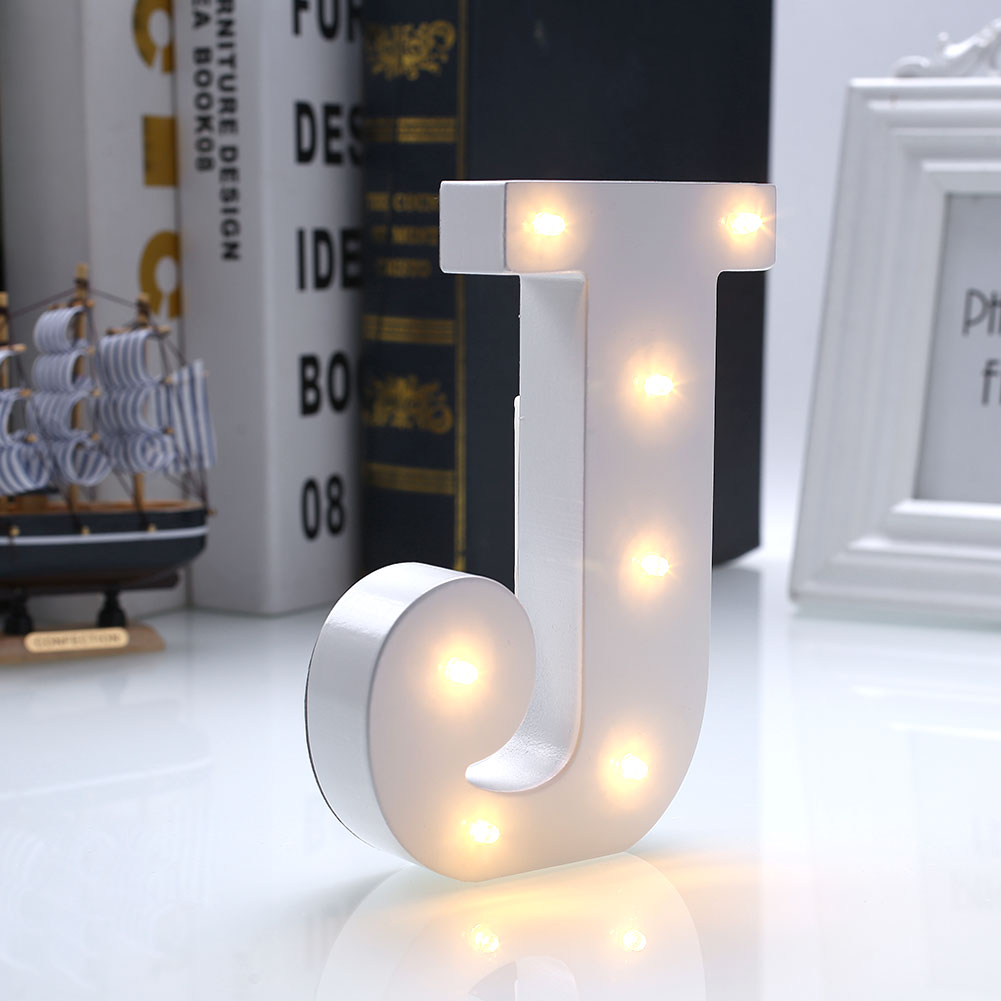 Creative 26 letters led warm white night light bedroom for Bedroom night light