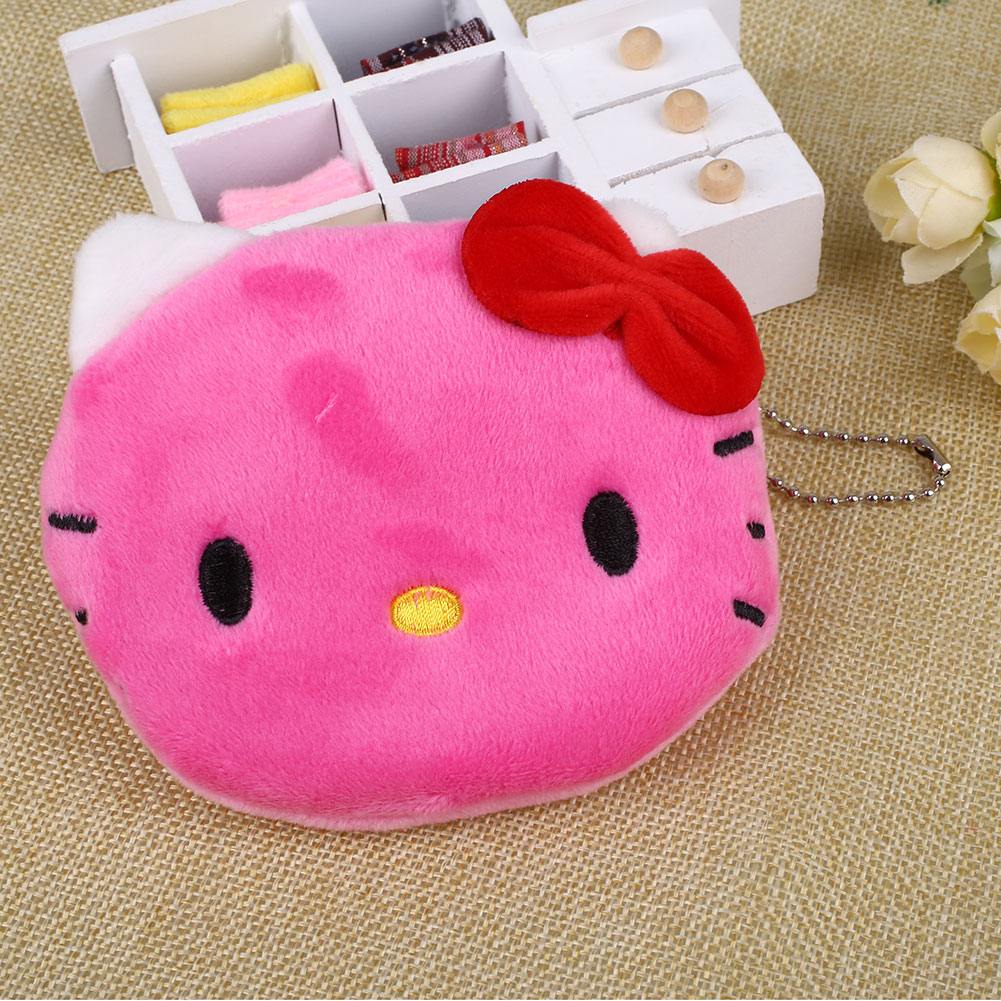 26F1-KT-Cat-Animal-Women-Girls-Plush-Purse-Zipped-Cartoon-Portable-Keychain