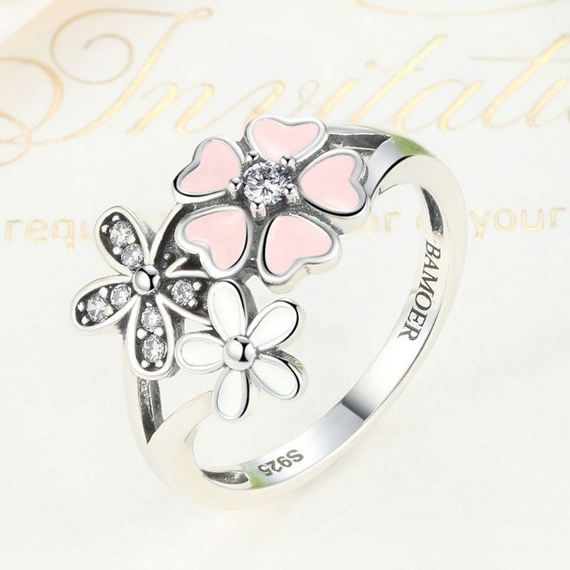 DC32-Pure-Silver-Ring-S925-Embed-Diamond-Enhanced-Pink-Flower-Fashion-Ornaments