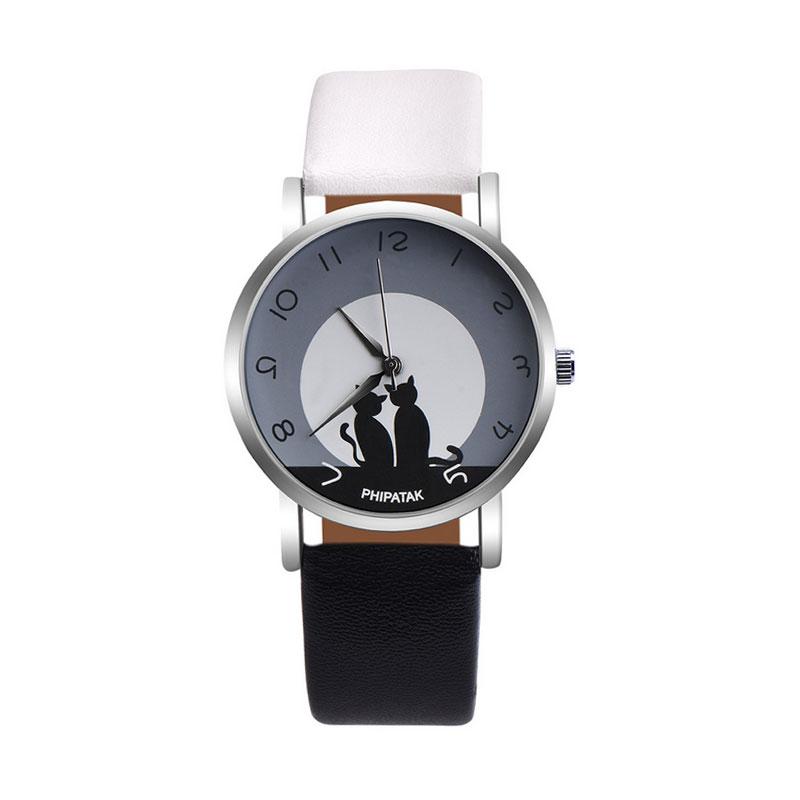 2F2B-Concise-Women-Lady-Cat-Leather-Strap-Quartz-Watch-Jewelry-Wristwatch-Gift