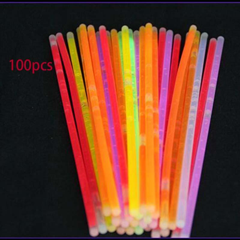 7D9B-50-100Pcs-Set-Glow-Sticks-Bracelets-Fluorescent-Neon-Decor-Color-Random