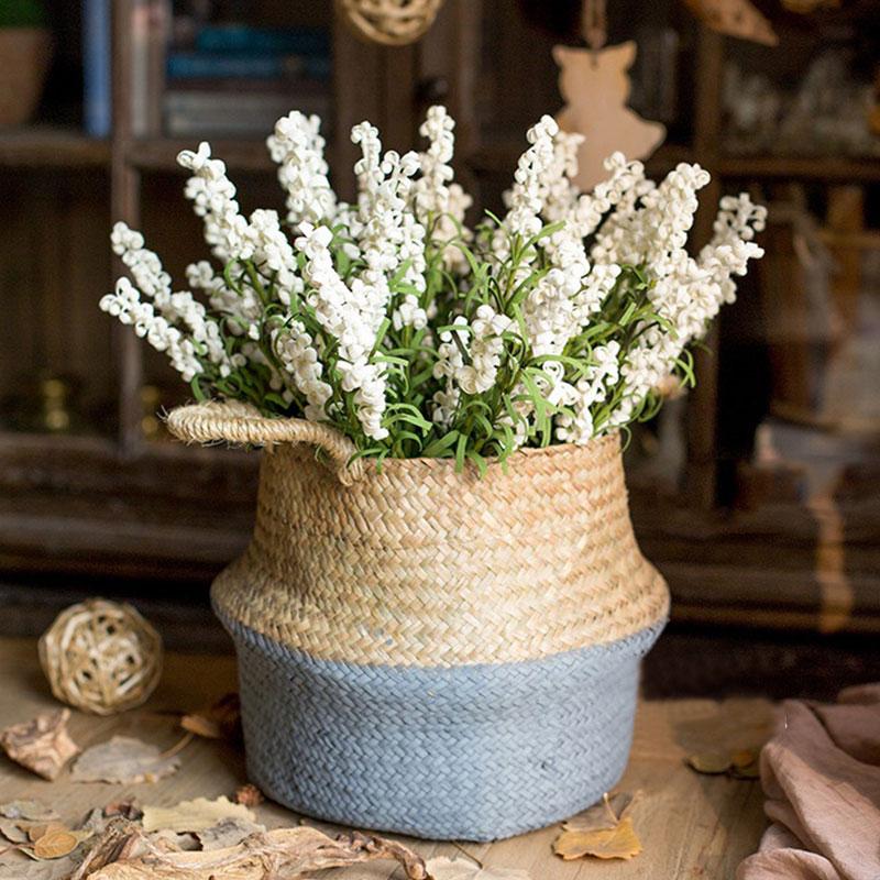 C826-Bouquet-Artificial-Silk-Fake-Lavender-Flowers-Wedding-Bridal-Party-Decor