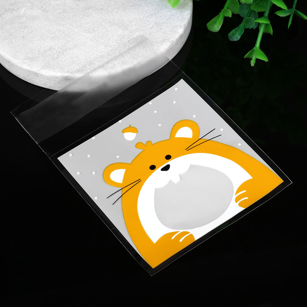 E994-100Pcs-Cute-Cookie-Biscuit-Plastic-Bags-Self-Adhesive-Animal-Snack-Bakken