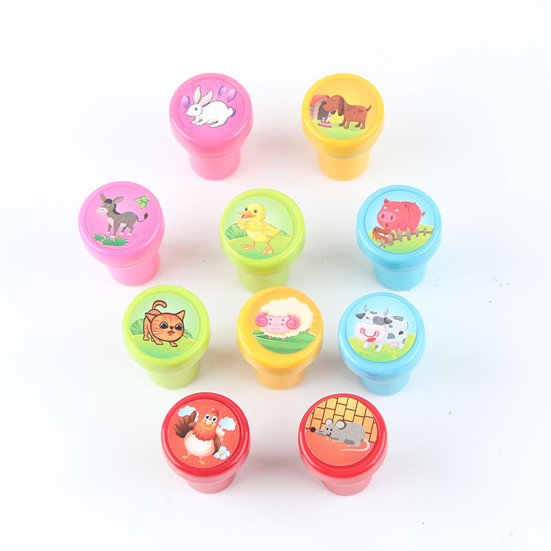 AAD3-10Pcs-Set-Stamps-Kids-Children-Toys-Animals-Fruit-Recognition-Training-New