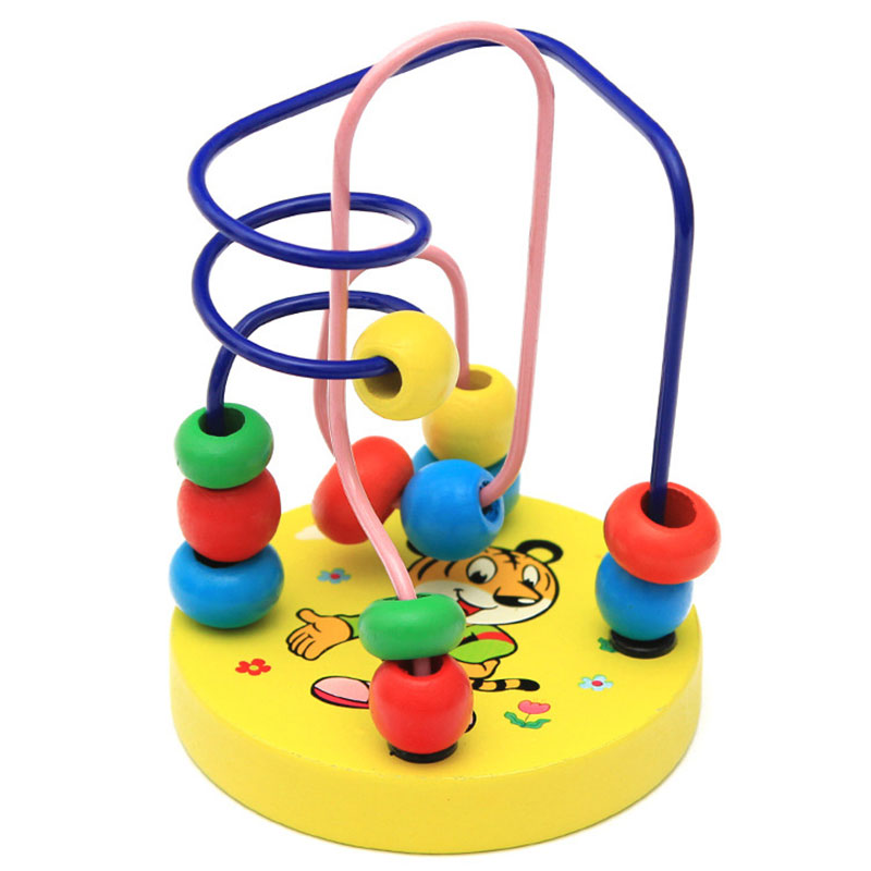 1AB6-Roller-Coster-Wooden-Toys-Beads-Kids-Abacus-Maze-Intellectual-Development