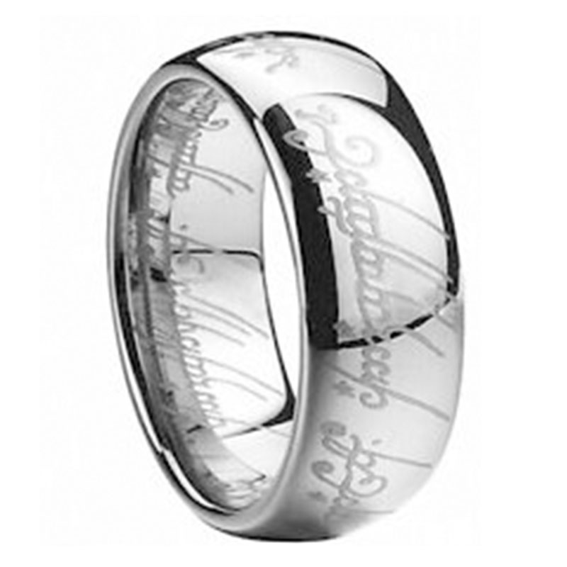 29FD-Lord-Of-The-Rings-Fashion-Men-039-s-Cool-Titanium-Steel-Rings-Decor-Multicolor