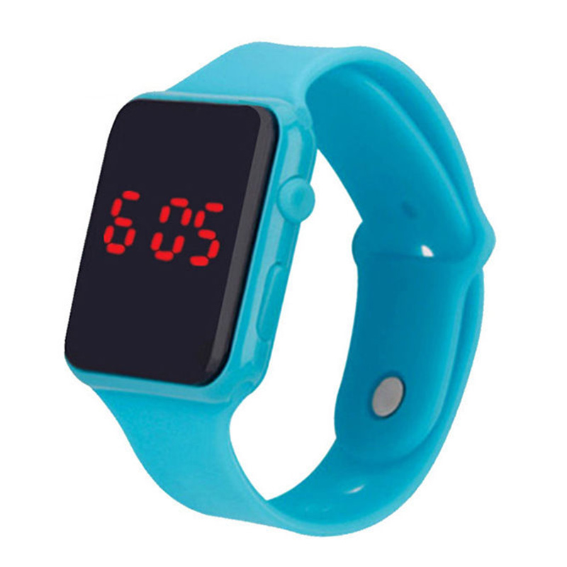 96CF-Electronic-LED-Silicone-Watch-Bracelet-Touch-Screen-For-Children-Girls
