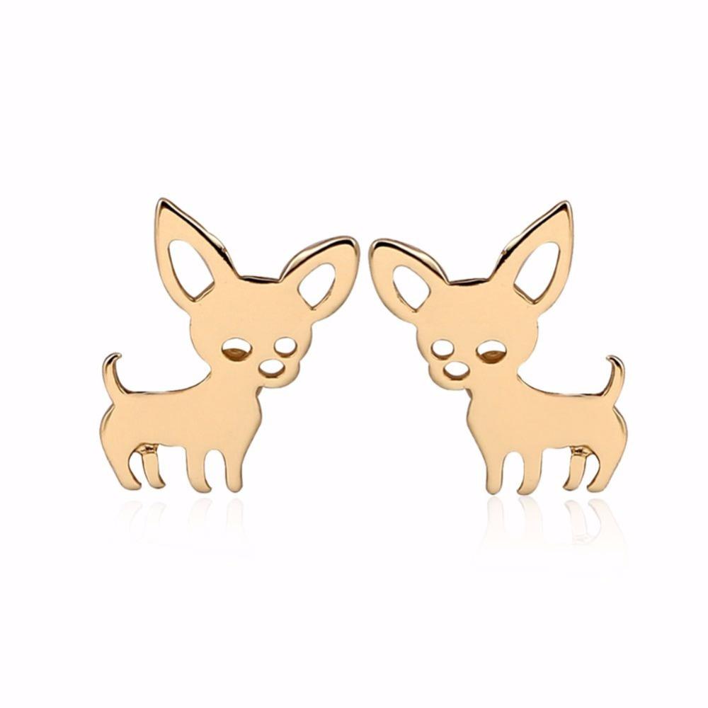 82AF-Women-Earrings-Ear-Stud-Dog-Style-Girls-Lady-Fahion-Accessories-Earstuds