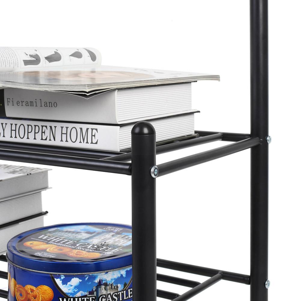 schwarz eisen wandregal schuhregal kleiderst nder. Black Bedroom Furniture Sets. Home Design Ideas