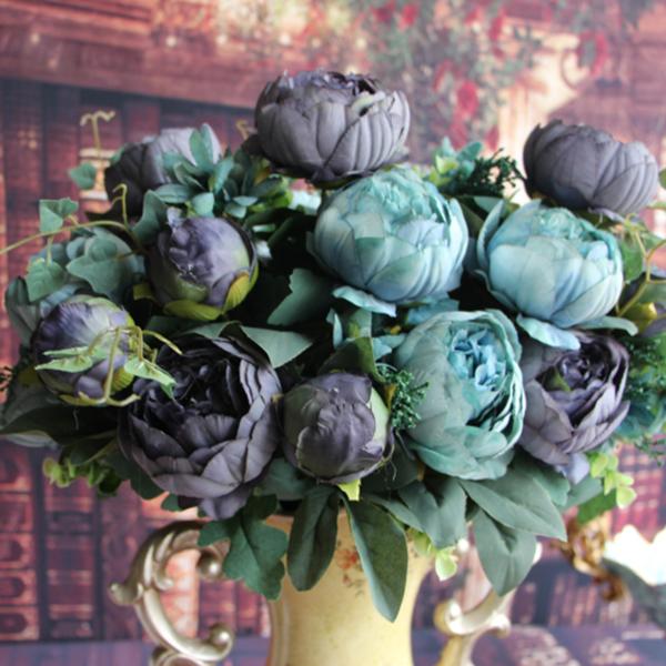 Artificial fake peony silk flowers bridal bouquet hydrangea home categories mightylinksfo