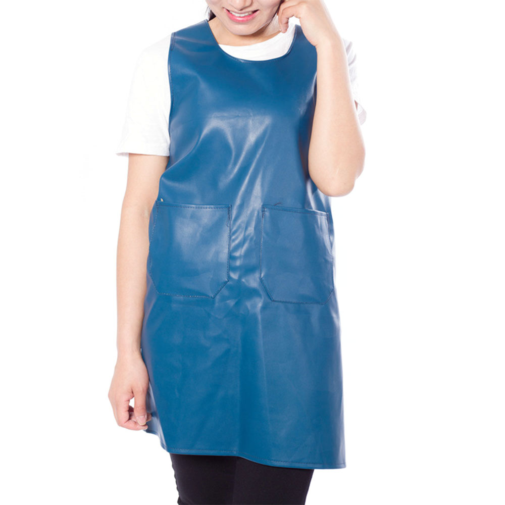 2EE0-PU-Leather-5-Color-Unisex-Waterproof-Durable-Apron-Accessories-Household